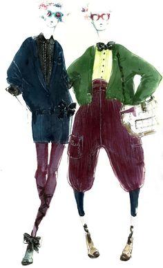 Myrtle Quillamor - Fashion Sketches / via http://www.pinterest.com/pilvenreuna/fashion-illustration/