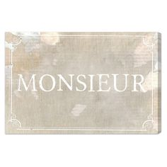 Monsieur Canvas Print, Oliver Gal at Joss and Main