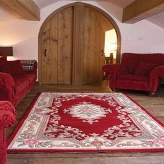 Wonderfully soft, thick full cut wool is used in the making of Lotus Aubusson Red Rug. A traditional Chinese design gives a feel of warmth and luxury to any room. Traditional Rugs, Traditional Chinese, Chinese Design, Front Rooms, Red Rugs, Wool Rug, Lotus, Luxury, Home Decor