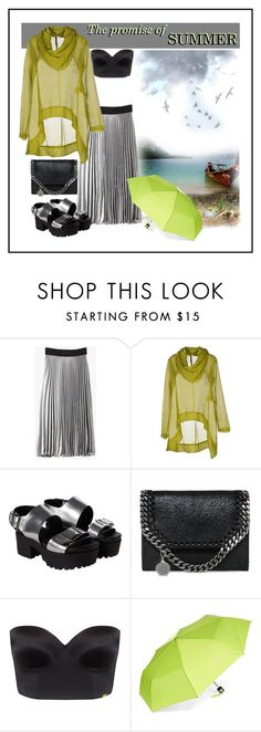 """""""The Promise Of Summer"""" by ul-inn ❤ liked on Polyvore featuring Manila Grace, Monki, STELLA McCARTNEY, Ultimo, Isotoner and DOMESTIC"""