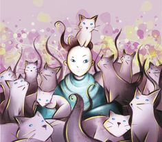 Paulo Coelho: El gato en la meditación  / Ilustración: Vanessa Balleza