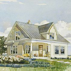 Coastal Home Plans Rockville Cottage Home and Garden