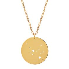 Look what I found at UncommonGoods: gold astrology necklace...
