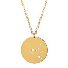 handmade astrology necklace (sagittarius shown)