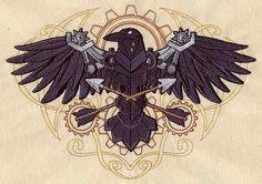 Western Steampunk - Raven design (UT4955) from UrbanThreads.com