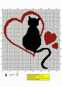 Chat tour eiffel - Photo de Anciens Free Chats, Chiens - Mes petites croix et moi ! Cross Stitching, Cross Stitch Embroidery, Embroidery Patterns, Cross Stitch Heart, Cross Stitch Animals, Cross Stitch Designs, Cross Stitch Patterns, Tapestry Crochet, Cat Pattern