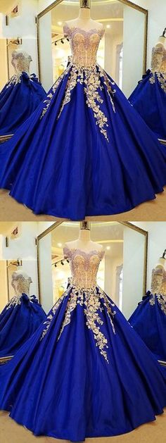 Royal Blue Prom Gown,Applique Prom Dress,Off the Shoulder Prom Dresses,Long Prom Dress A-Line Evening Dress,Ball Gown Prom Dress,Quinceanera Dress #royalblue #ballgown #sweet16 #appliques #prom #okdresses