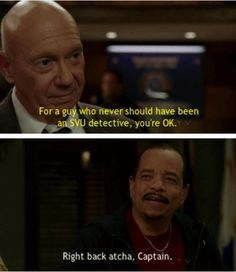 "When he had this Hallmark moment with the Captain. | Community Post: 20 Fin-Tastic Moments From ""Law & Order: SVU"""