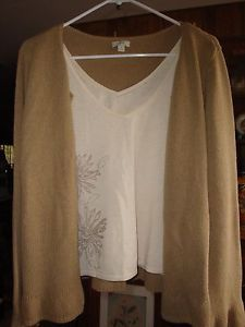 J. Jill Linen Cardigan | Details about womens j.jill linen cotton sweater set beige small