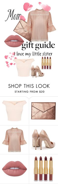"""""""Gift for mum and sis"""" by cami-lanfranconi-cl ❤ liked on Polyvore featuring Rebecca Minkoff, Ulla Johnson, Rupert Sanderson, Lime Crime and tarte"""