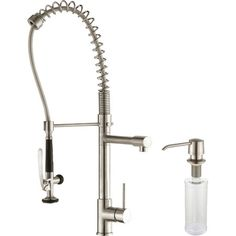 kraus kpf 1602 single handle pull down kitchen faucet commercial