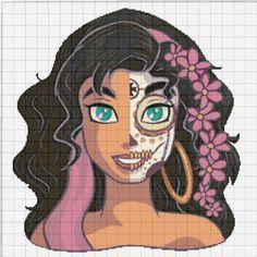 Modern Cross Stitch Patterns, Counted Cross Stitch Patterns, Cross Stitch Embroidery, Pixel Art Templates, Perler Bead Art, Blanket Stitch, Perler Patterns, Princesas Disney, Cross Stitching