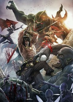Conan the Conqueror by *AdmiraWijaya - collaboration with SpiderGuile on deviantART