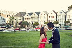 Alamo Square Engagement Photographer San Francisco Wedding Photographer