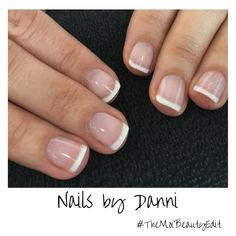 Classically chic, we love these beautiful French Tip nails by Danni. How perfect are