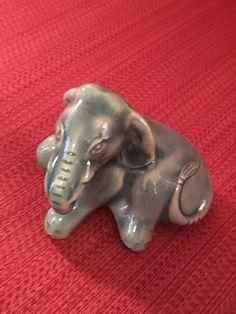 Camark Hard To Find Blue Elephant Hard To Find, Vintage Pottery, Lion Sculpture, Elephant, Statue, Blue, Ebay, Vintage Ceramic, Elephants