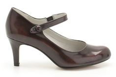 Womens Smart Shoes - Arista Ash in Wine Synthetic from Clarks shoes
