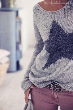 knitwear, star sweater, butiksofie
