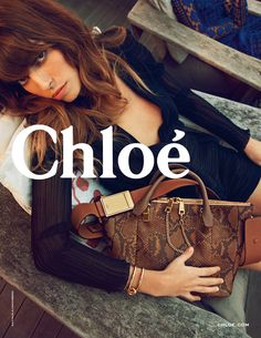 Chloe Spring-Summer 2014 campaign - I've previously used this pose for SS15, awkward angles and body distortion compliment the bag