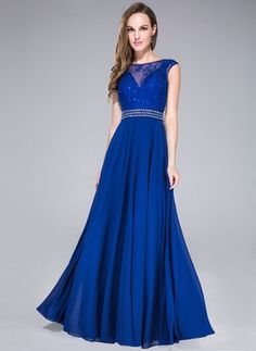 A-Line/Princess Scoop Neck Floor-Length Chiffon Tulle Prom Dress With Lace Beading Sequins Regency, dark green, gold or as pictured royal blue Tulle Prom Dress, Cheap Prom Dresses, Ball Dresses, Lace Dress, Ball Gowns, Dress Up, Girls Dresses, Bridesmaid Dresses, Formal Dresses