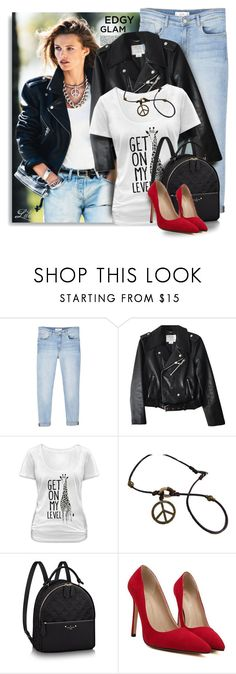 """""""Say It Loud: Slogan T-Shirts"""" by breathing-style ❤ liked on Polyvore featuring MANGO, Kate Spade and Goodie Two Sleeves"""