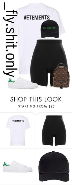 """Untitled #2513"" by flyyshitonly ❤ liked on Polyvore featuring Vetements, SPANX, adidas Originals, Miss Selfridge and Louis Vuitton"