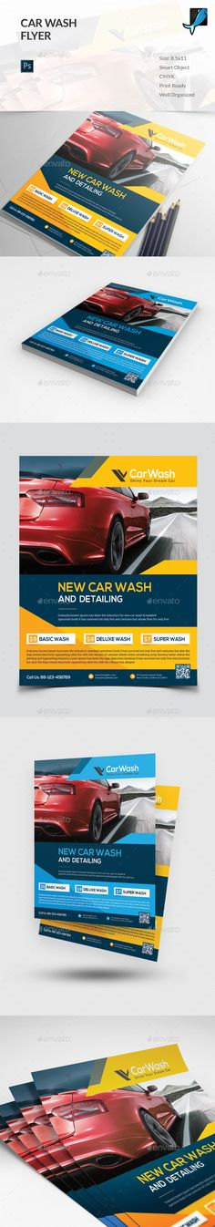 Car Wash Flyer Template PSD. Download here: http://graphicriver.net/item/car-wash-flyer/15965429?ref=ksioks