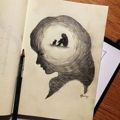 Light in the head more pencil sketching, easy pencil drawings, pencil sketch art, Easy Pencil Drawings, Pencil Sketch Drawing, Sad Drawings, Dark Art Drawings, Art Drawings Sketches, Pencil Drawing Tutorials, Best Drawing, Best Sketches, Drawing Tips
