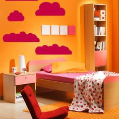 The Clouds Wall Decal is a simple but easy way to brighten up any infant's or kid's room. Your child will love having the Cloud Wall Decals in their room. Cool Wall Art, Kids Wall Decor, Nursery Wall Decals, Floor Chair, Wall Stickers, Kids Room, Toddler Bed, Interior, Clouds