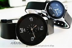 Contracted series-Lovers watch-Genuine leather jewelry bracelet-New couple watch-Leisure wrist watch gift