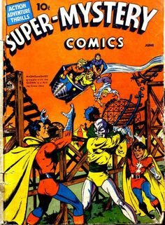 Comic Book Cover For Super-Mystery Comics v2 #2 - Date: Jun 1941