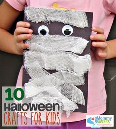 Halloween Crafts for Kids - Easy crafts using things you probably already have around the house