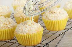 Receta de muffins de limón con glaseado de naranja