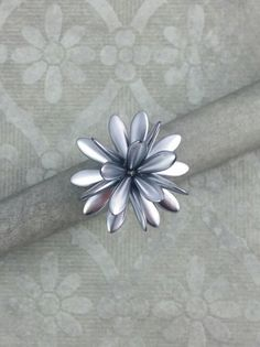 Gift for her. Flower diameter about cm. Color Harmony, Statement Rings, Unique Vintage, Vintage Inspired, My Design, Gifts For Her, Gray Color, Jewelry Making, Sparkle