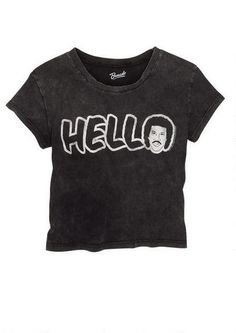 Lionel Richie Hello Tee - Tops - Clearance - dELiA*s I NEED THIS!
