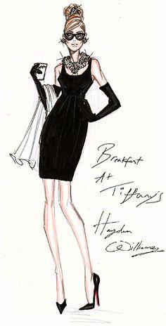 Hayden Williams Fashion Illustrations: Breakfast At Tiffany's celebrating the 50th Anniversary!