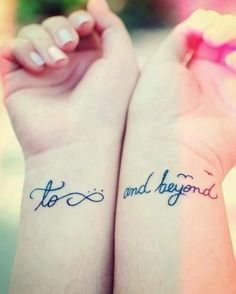To infinity ... and beyond! Love this tattoo. I have always told the boys, I love you to infinity and beyond!