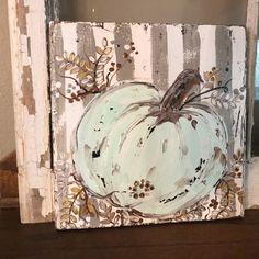 Pumpkin Painting, Pumpkin Art, Autumn Painting, Autumn Art, Diy Painting, Painting On Wood, Pumpkin Pics, Pallet Painting, Painted Pumpkins