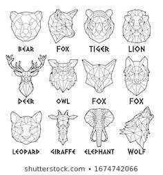 Geometric Tattoo Nature, Geometric Drawing, Geometric Art, Triangle Art, Polygon Art, Wow Art, Wooden Wall Art, String Art, Christmas Art