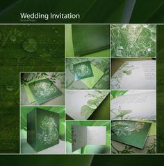 dark green wedding invitation by ~vikifloki