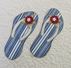 - This Flip Flops Applique Pattern is just in time for… Free Applique Patterns, Doodle Patterns, Sewing Appliques, Applique Quilts, Applique Designs, Embroidery Applique, Free Pattern, Quilting Patterns, Quilting Ideas