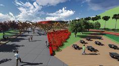 Landscape Project - Museum of Contemporary Art in Itaipava, Petrópolis, RJ. Developed by Alice Tesch and Fernanda Assis. Ateliê de Projeto VI - Universidade Estácio de Sá