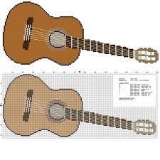 Resultado de imagen de pig playing guitar in cross stitch