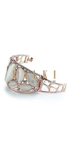 Buy Online from the link below http://www.kalkifashion.com/white-pearl-stone-cuff.html