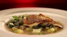 MKR4 Recipe - Roast Bream with Shellfish Broth