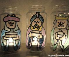Portavelas Reyes Magos / candle the three wise men