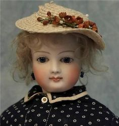 """17"""" Antique French Fashion Doll 1870 Barrois Cobalt Eyes Swivel Neck Fine Outfit 