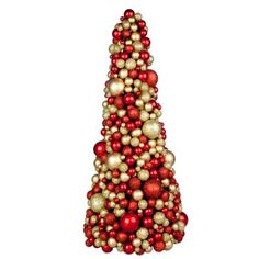 Rich Red & Gold Bauble Berry 48cm Tree
