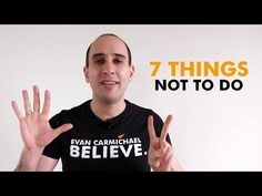 The top 7 things NOT to do when starting a business - YouTube