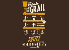 The Three Trials -- Great Indiana Jones t-shirt from Threadless.  (artist Enrique Cabeza Mogollo)